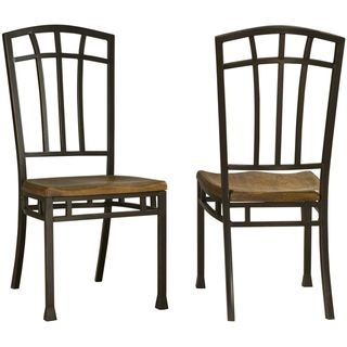 Home Styles Oak Hill Distressed Oak Dining Chairs (Set of 2