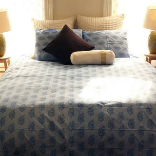 Organic Cotton Elyse Blue King size Duvet Cover (India)