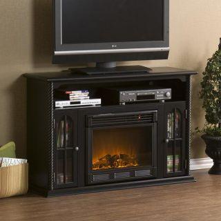 Peyton Black Media Console Electric Fireplace
