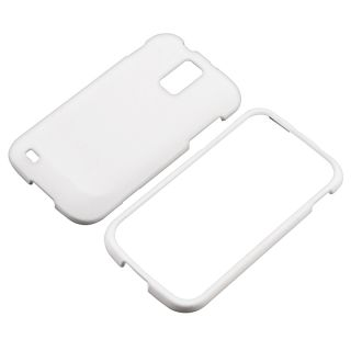 White Rubber Coated Case for Samsung Galaxy S II T989 T Mobile