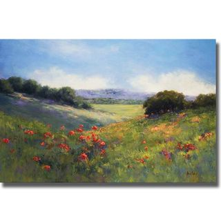 Alice Weil Poppies with a View Canvas Art