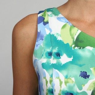 Glamour Womens One Shoulder Floral Printed Casual Dress