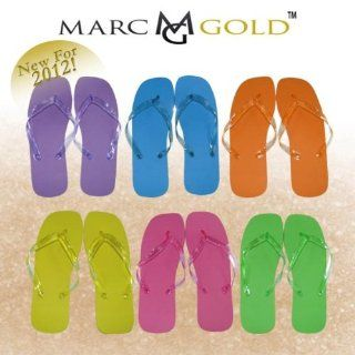 144 Pieces Per Case) Marc Gold Wedding Flip Flops for Guests. (Our