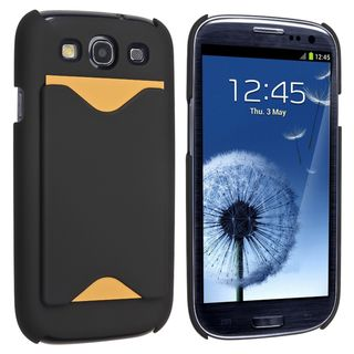 BasAcc Black Snap on Rubber Coated Case for Samsung© Galaxy SIII / S3