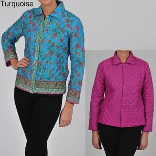 La Cera Womens Plus Size Quilted Cropped Jacket