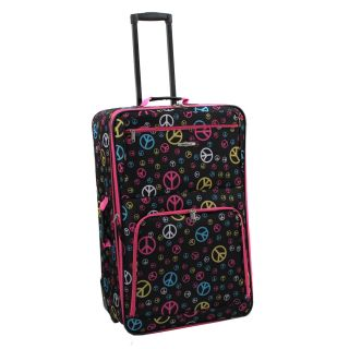 Rockland Peace Sign 28 inch Expandable Rolling Upright Luggage Today