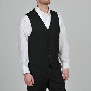 Tommy Hilfiger Mens Black Six button Vest