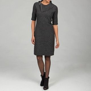 Sandra Darren Womens Charcoal Knit Dress
