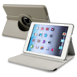 BasAcc Grey Leather Swivel Case for Apple iPad Mini