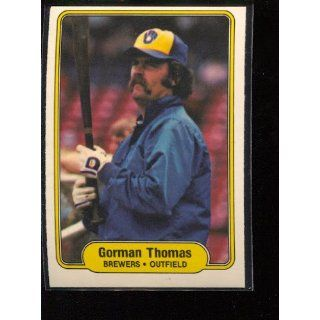 1982 Fleer #154 Gorman Thomas Collectibles