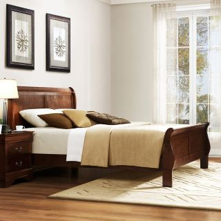 Milford Louis Phillip Warm Brown Queen size Sleigh Bed Today: $427.99