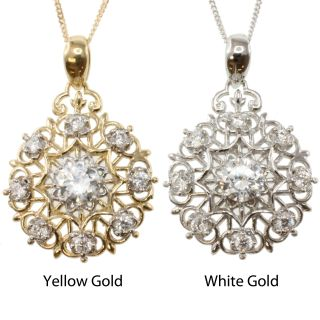 14k Gold and Cubic Zirconia Necklace Today $188.99