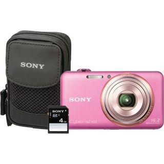 Sony Cyber shot DSC WX70 16.2MP Pink Digital Camera Kit Was $159.99
