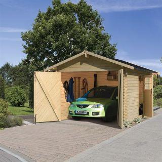 Garage en pin 297 x 447 x 270 cm   Achat / Vente GARAGE   CARPORT
