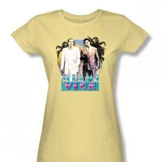 Miami Vice     80 der liebe junge Frauen T Shirt in Bananen