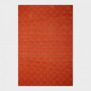 Indo Hand tufted Flat Weave Rust/ Burgundy Kilim Rug (56 x 8) Today