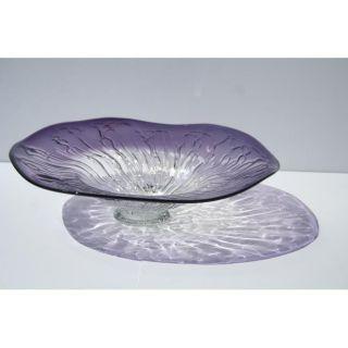 Hand blown Purple Amethyst Glass Plate