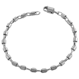 Fremada 14k White Gold 8.75 inch Bullet Chain Bracelet Today: $587.99