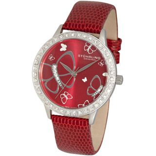 Stuhrling Original Womens Fantasia Crystal Swiss Quartz Watch