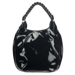 Salvatore Ferragamo Patent Leather Hobo Bag