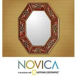 Reverse Painted Glass Splendor Wall Mirror (Peru)