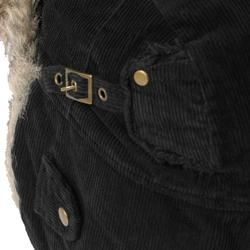 Boston Traveler Mens Corduroy Faux Fur Trapper Hat