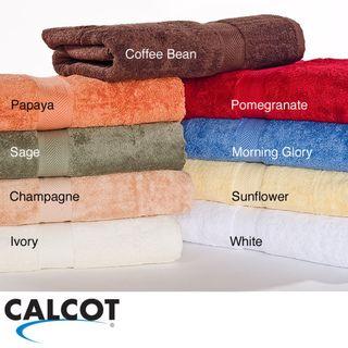 Calcot 600 GSM Supima Cotton Ring Spun Bath Towels (Set of 2