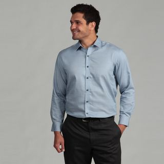 Marc New York Mens Authentic Fit Blue Dress Shirt