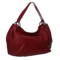 Furla Cherry Red Leather Hobo Bag