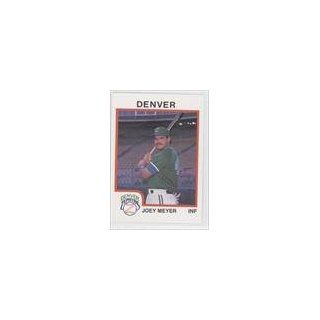 Joey Meyer (Baseball Card) 1987 Denver Zephyrs ProCards #5