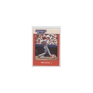 Eric Davis Cincinnati Reds (Baseball Card) 1988 Kenner Starting Lineup