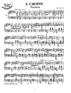 Chopin Mazurka Op. 6, No. 2 Instantly download and print sheet music