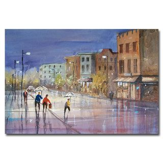 Ryan Radke Summer Showers in Green Bay Canvas Art