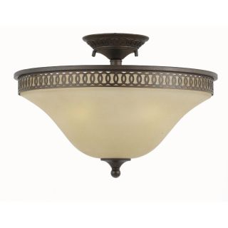 York Energy Star 3 light English Bronze Semi flush Light