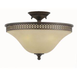 York Energy Star 3 light English Bronze Semi flush Light