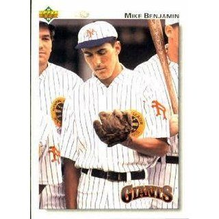 1992 Upper Deck #268 Mike Benjamin   San Francisco Giants