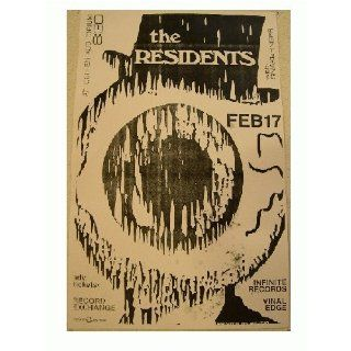The Residents Handbill Poster Everything Else