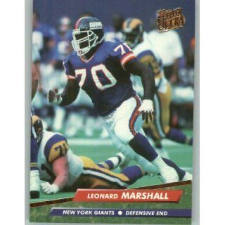 1992 Ultra #282 Leonard Marshall   New York Giants (Football Cards)