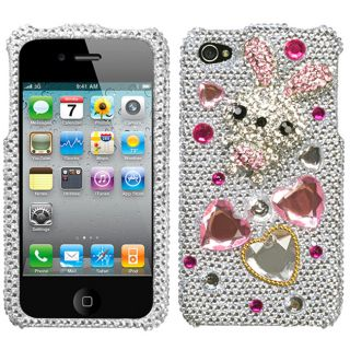 Apple Iphone 4/4S Rabbit Doll Design 3D Premium Rhinestone Diamond