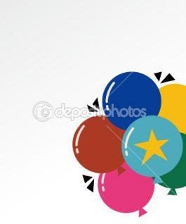 Balloon birthday card design  Stock Vector © jinru huang #2177633
