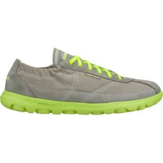 Womens Skechers GOwalk Nice Gray/Green
