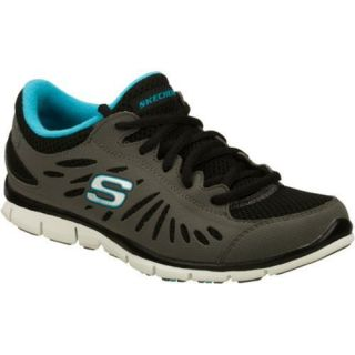 Womens Skechers Gratis Purestreet Gray/Black