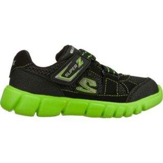 Boys Skechers Mini Flex Mischiefs Black/Green