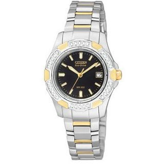 Citizen Eco Drive Aviara Womens Diamond Sport Watch