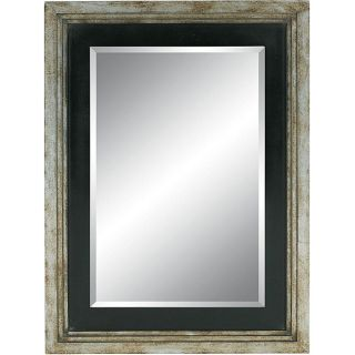 Rectangular Framed Distressed Silver Wall Mirror