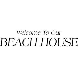 WELCOME TO OUR BEACH HOUSE,Vinyl Wall Decal, Wall Decor