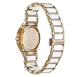 Wittnauer Womens Ceramic Rose Gold Diamond Watch