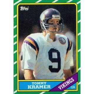 1986 Topps #293 Tommy Kramer   Minnesota Vikings (Football