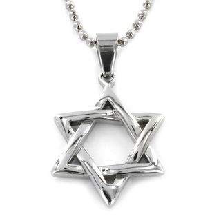 West Coast Jewelry Stainless Steel Star of David Pendant