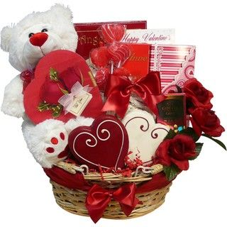 Art of Appreciation Valentines Treasures Teddy Bear Gourmet Gift